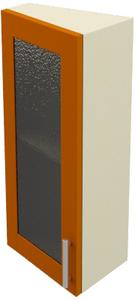 0856 шкаф навесной торцевой х350 h=600 (с фасадом стекло) ле.